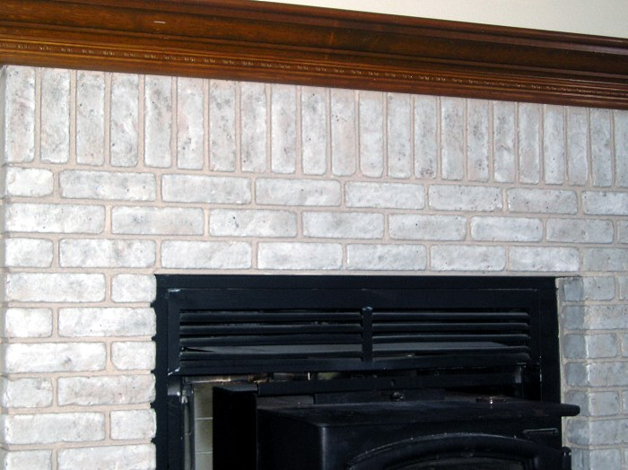 Faux Painted Brick Fireplace
