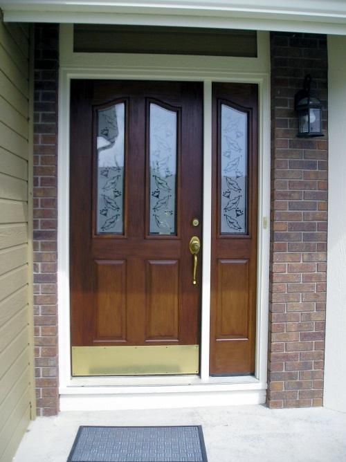 Refinished Fiberglass Front Door