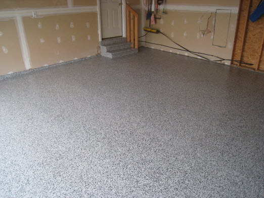 Epoxy garage floor.