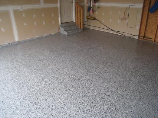 Concrete floor improvement paint stain or epoxy for Epoxy coating for exterior concrete