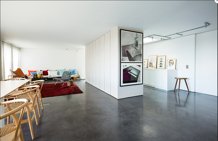 White Walls And Concrete Floors A Match Made In Heaven