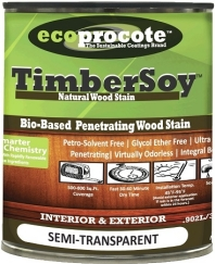 A penetrating semi-transparent non film forming, non toxic wood stain.