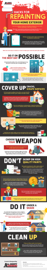 Hacks for Repainting Your Home Exterior Infographic