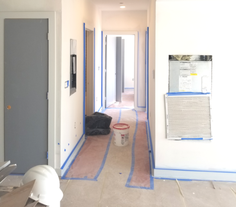 Preparing walls to be painted